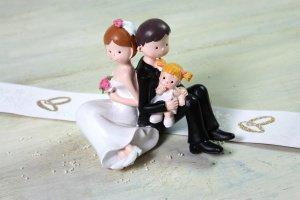 Brautpaar - Eltern mit Kleinkind Mädchen, 10 cm