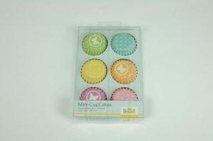 Papierbackförmchen Mini-Muffin, 108 Stück, farbig sort.