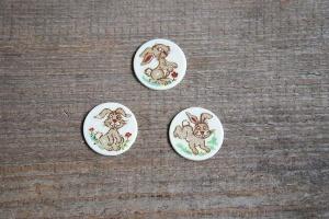 Häschen, Marzipan-Aufleger, rund Ø 3 cm, 12 Stück