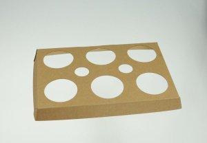 Backtablett für 6 Tulpen, hitzebeständiger Karton, 3 Stück