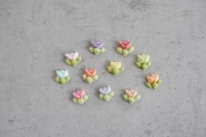 Zuckerblumen Mini-Rosenblüten, bunt gemischt, 44 Stück