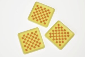 Aufleger für Viereckschalen -Schachbrett- weiß 56 Stück