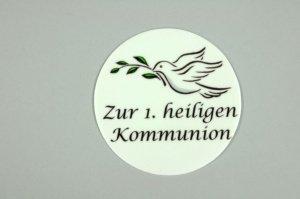 Kommunion-Aufleger -Friedenstaube- Ø 10 cm aus Zucker