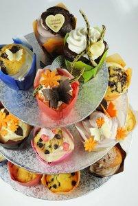 Kuchenständer für Kleingebäcke, 3-stufig