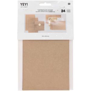 Geschenktüten, Papier, natur, 24 Stk., 13x22,5 cm