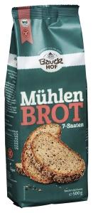 Glutenfreie Mischung für Mühlenbrot, 7-Saaten, Bio, 500 g