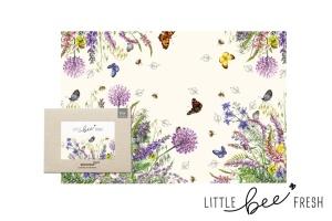 Bienenwachstuch, bunte Blumenwiese, Brottuch XXL,