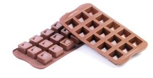 Silikonform, Silikomart  Cubo, Schokoladenform, 26x26x18 cm
