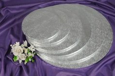 Cake Board /Tortenplatte, Ø 25cm, 1,2 cm silberfarben