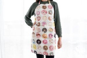 Schürze, Donuts, 80% Baumwolle, 20% PY, 68x88 cm