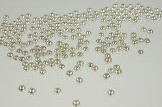 Silberperlen  Dekor, 6 mm, 100-g-Dose