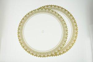 Tortenscheiben mit Goldspitzendruck fettdicht / 35cm 5 Stück