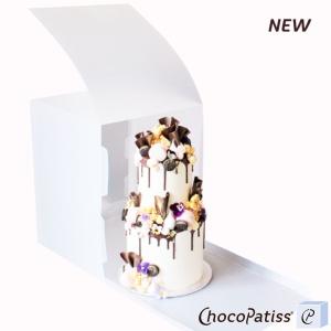 Tortenbox, faltbar, matt, 31,5x31,5x48,5 cm