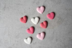 Zuckerdekor Herzen, 8 Stück