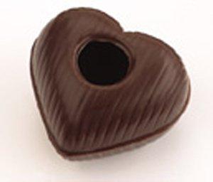 Herz-Hohlkörper Zartbitter  54 Stück