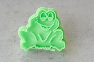 Ausstecher Frosch mit Prägestempel, Kunststoff, 5,5 cm
