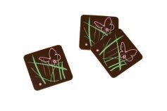 Schoko-Quadrate Schmetterling 2,7 x 2,7 cm, 24 Stück