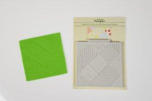 Präge-und Modellierform -Patchwork Quilt-10x10cm aus Silikon