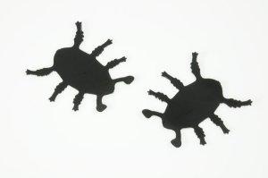 Käferfüße aus Karton 9 x 9 cm, 10 Stück