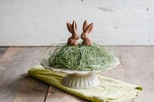 Schüttelform Osterhasen sitzend Langohr 9,5 cm für 2 Hasen