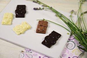 Gießform für Schokoladeneulen aus Silikon 18 x 30 cm