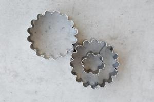 Linzer Ausstecher Rosette, 2-teiliges Set, Ø 37 mm
