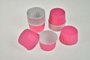CupCake-Becher, pink, 24 Stck., Ø 6 cm, Höhe 4 cm