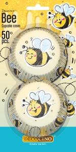 Muffinförmchen Biene, Papier, 50 Stk., Ø 5cm, H 3cm