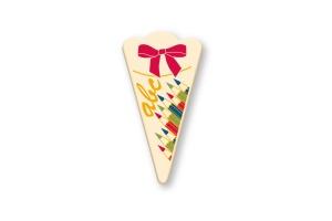 Schoko-Schultüten -Buntstifte-, Vollmilch, 5x2,5 cm 21 Stück