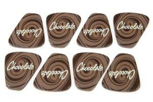 Schoko-Dekor-Aufleger Chocolate 28 Stück 29 x 35 mm