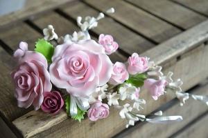Zucker-Rosenbouquet rosa ca. 30 cm