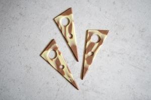 Schoko-Aufleger Dreieck marmoriert, 9,5 x 4 cm, 16 Stück