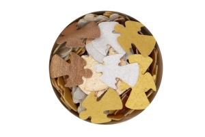 Streudekor Engel, Esspapier,  gold/silber/bronze, 20 mm, 3g