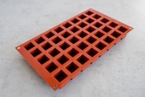 Würfel Backform für 40 Würfel Ø 2,4 cm, Silikon