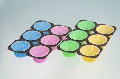 Muffin-Papierbackformen, in 4 Farben, 48 Stück