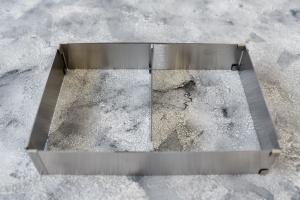 Verstellbarer Backrahmen 5 cm hoch Edelstahl