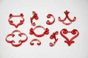 Musterschablonen-Set 9-teilig, aus Kunststoff