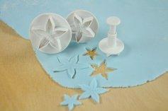 Sternfrüchteformer mit Auswerfer 3er Set,