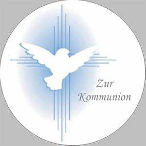 Kommunion-Aufleger -Taube-  Ø 10 cm aus Zucker