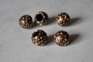 Trüffel-Hohlkugeln -Mond und Sterne- Zartbitter 63 Stück