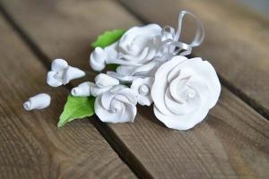Zucker-Rose weiß, 12 cm