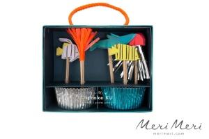 Meri Meri Cupcake Kit Unterwasser, Muffinform + Deko