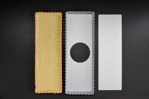 Tarteform eckig, Aluminium, 2-teilig, 36x12 cm