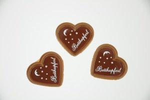 Aufleger für Herzschalen -Betthupferl- Vollmilch  56 Stück