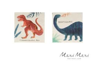 Meri Meri Papierservietten Dino, 16 Stk., ca. 12,5x12,5 c