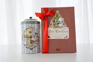 Geschenkset: Tilda Apfelkern, Backbuch & Plätzchendose