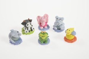 Kaugummi-Figuren Tiere, gemischt, 12 Stück