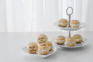 Macarons personalisiert natur, Ø 3,5 cm