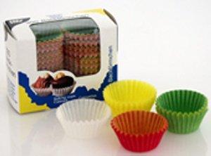 Pralinenkapseln /Papierbackförmchen farbig für Mini-Muffins