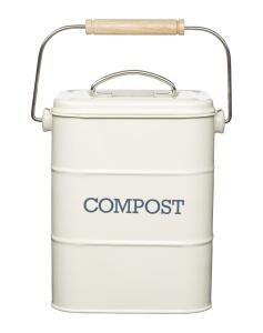 Kompostbehälter Küche, 3 Liter, 16,5x12x24 cm